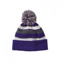 P Beanie 005 - Purple/White/Graphite