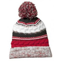 P Beanie 022 - Red/Black/White
