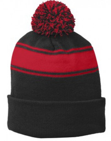 P Beanie 027 - Black/True Red
