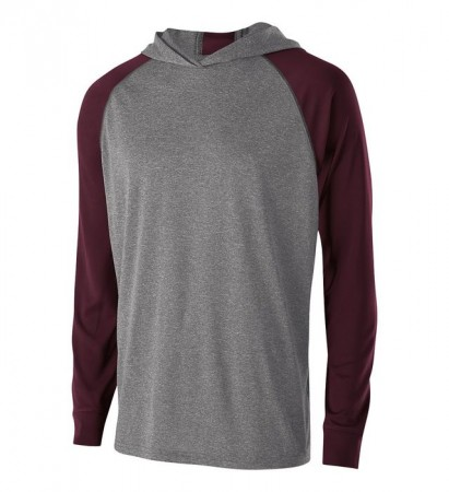 Graphite Heather/Maroon