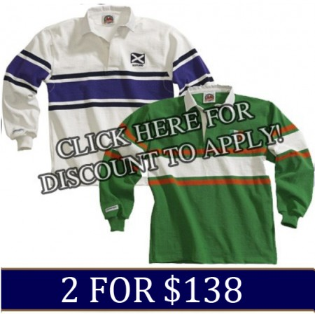 World Rugby Jerseys 2 for $138.00
