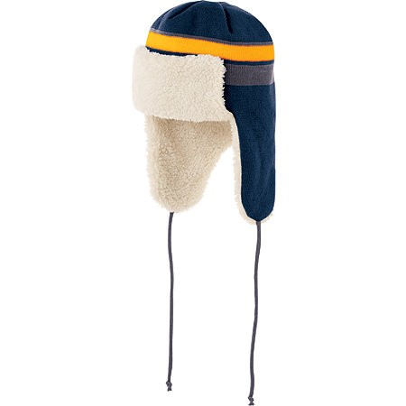 Trapper Beanie 007 - Navy/Gold/Graphite
