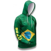 Brazil World Sublimated Warmup Hoodie