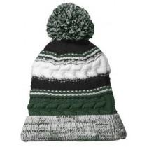 P Beanie 016 - Forest Green/Black/White