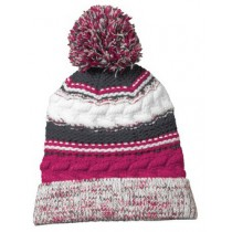 P Beanie 020 - Pink Raspberry/Iron Grey/White